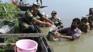 BSF Came Forward to Provides Relief to Flood Affected People