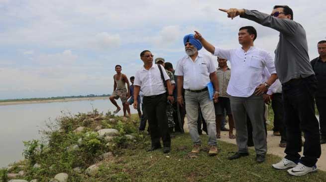 CM Khandu Visted Flood Affected Namsai District