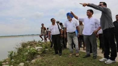 Photo of CM Khandu Visted Flood Affected Namsai District