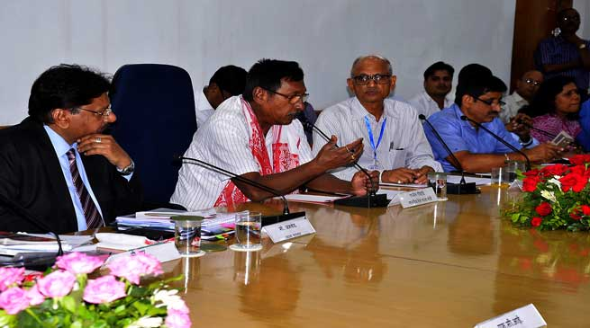 Rajen Gohain hold railway meeting