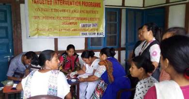 Changlang- RKMMS Organised Free Health Camp