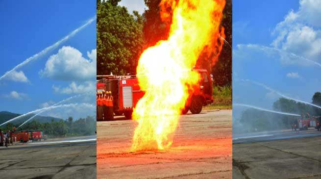 Demonstration on Fire Fighting at Narangi Cantonment