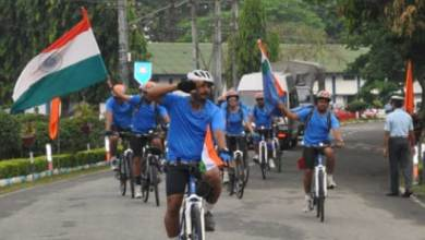 Photo of IAF organised Cycling Expedition from Chabua Air Base to Delhi