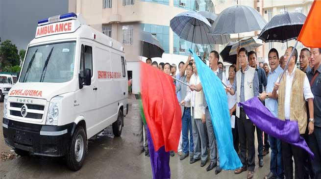 CM Pema Khandu flags off 16 Ambulances from Tomo Riba State Hospital