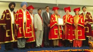 M D Khetan has been conferred Honorary Doctorate by the Desh Bhagat University
