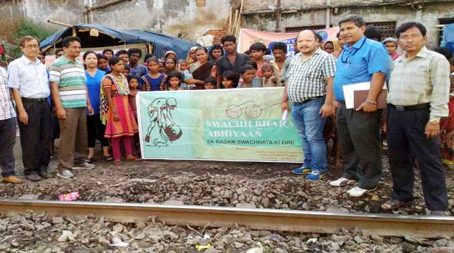 NF Railway organised Awareness Campaign against Open Defecation