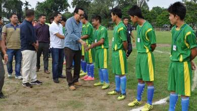 Mein Inaugurates 1st Namsai District Football Cup Tournament