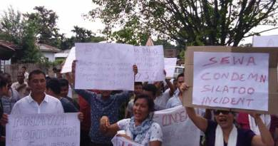 Namsai- Mass Protest Against Attack on Police Team