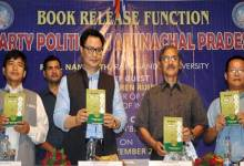Photo of Rijiju Releases Book on Party Politics in Arunachal Pradesh
