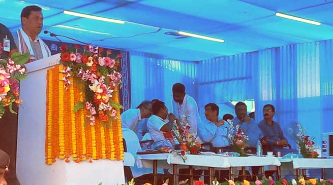 Foundation stone of Hojai-Lumding Doubling laid by CM Assam & MOSR