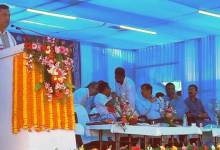 Photo of Foundation stone of Hojai-Lumding Doubling laid by CM Assam & MOSR