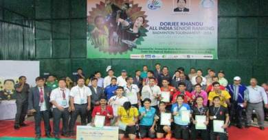 Dorjee Khandu All India Senior Ranking Badminton Tournament 2016 Begins