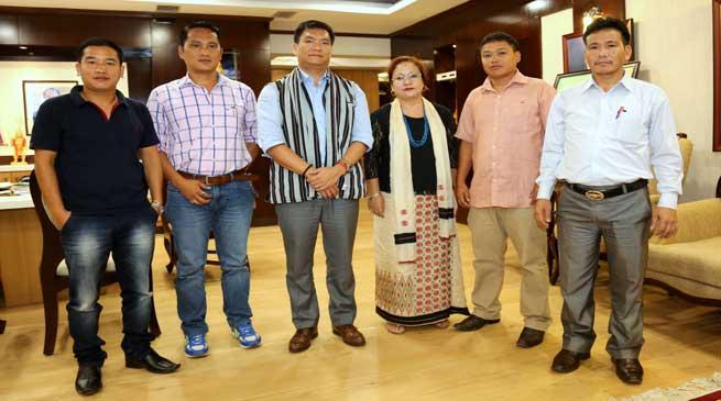 Arunachal Teachers Association's Delegation Meets with CM Khandu