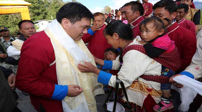 Unprecedented Reception of Pema Khandu in Tawang