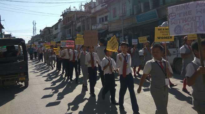 Rally against sexual exploitation in Churachandpur