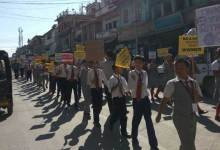 Rally against sexual exploitation in Churachandpur