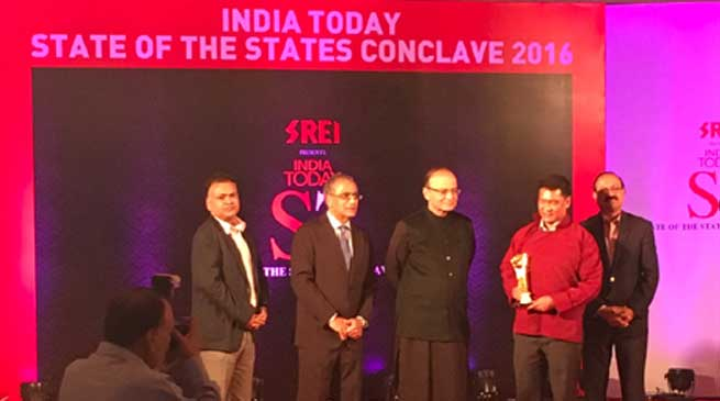 Arunachal bags Most Improved Small State Award of India Today