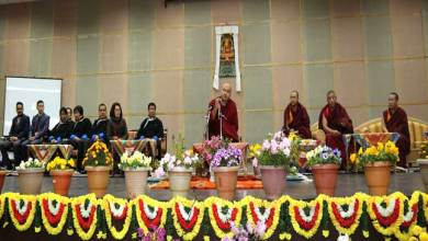 His Holiness delivers Speach on Buddhist Philosophy at Kala Wangpo Convention Hall