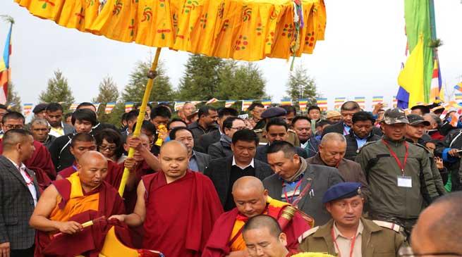 Tawang- His Holiness, The Karmapa given rousing reception