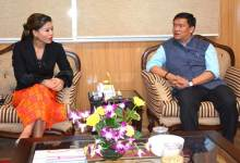 Photo of Boxer MC Mary Kom called on Chief Minister Pema Khandu