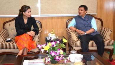 Photo of Boxer MC Mary Kom called on Chief Minister Pema Khandu