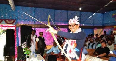 Mein while participates in the 142nd birth anniversary of freedom fighter Birsa Munda