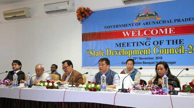 Itanagar- State Development Council meeting held