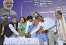 Photo of Prabhu Lays Foundation Stone of Tupul Station Building