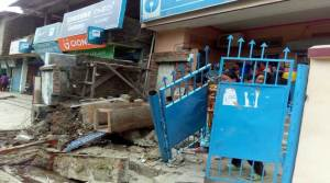 Angry customers vandalized two SBI branches in Manipur