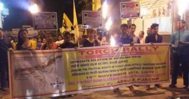 ABSU organised Torch Rally demanding Bodoland State