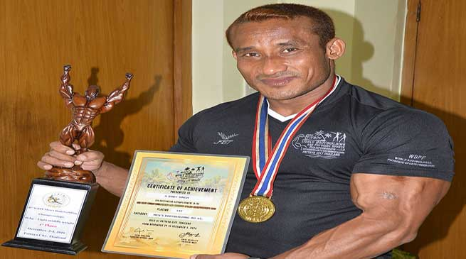 Boby Singh of N.F.Rly brings glory by winning 1st prize in the World Championship