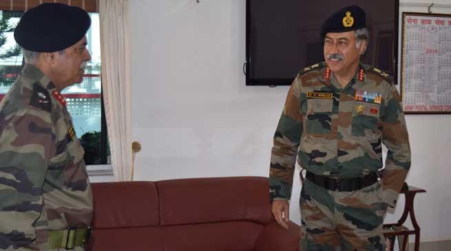Lt Gen DS Ahuja Goc 101 Area Visits Guwahati