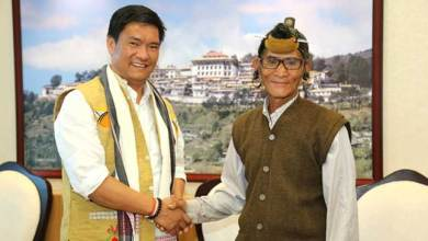 Photo of First Agency Councillor of NEFA Administration meets Khandu