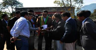 Chowna Mein visits State important Project sites at Pasighat