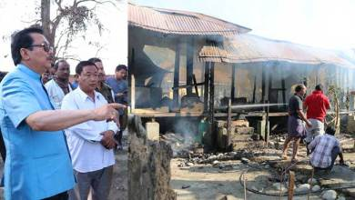 Photo of Chongkham- 2 Govt quarters Gutted in a devastating fire