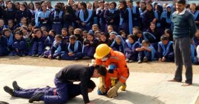 Aalo- National School Safety Programme held at Nehru HS School