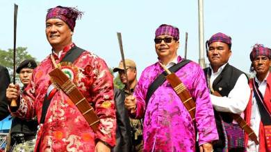 Photo of Pema  Khandu, Chowna Mein and Tapir Gao Participate in Shapawng Yawng Manau Poi