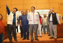Photo of Khandu inspected the New State Assembly Building site