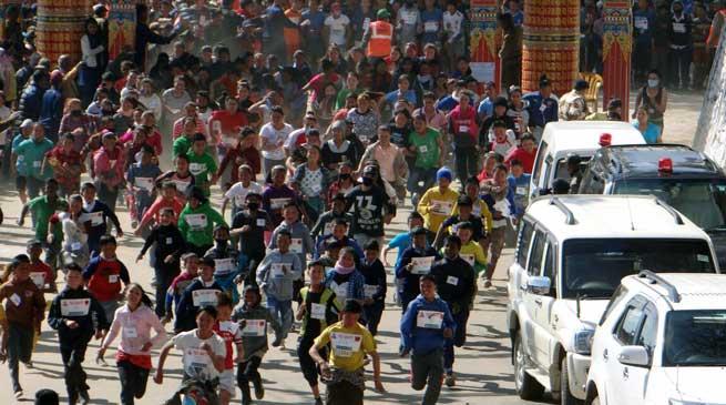 763 BRTF ( Project Vartak ) Organised Tawang Marathon 2017
