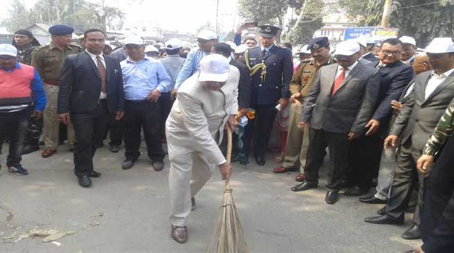 Kokrajhar- Guv Banwarilal Purohit Participates in Swachh Bharat Abhiyan