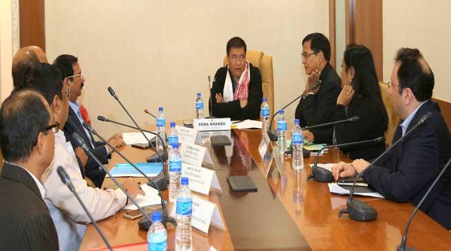 Khandu Reviewed the Comprehensive Scheme for T&D
