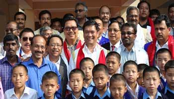 Pema Khandu and Chowna Mein inaugurates VKV School Buildings