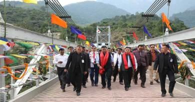 Tuting-Khandu Inaugurated Steel Suspension Bridge at Kodak