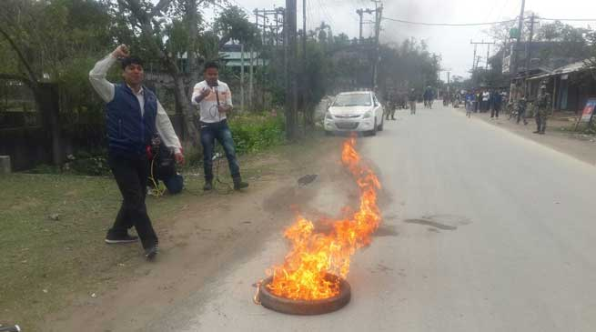 Dibrugarh paralysed during Bandh against Silapathar Incident