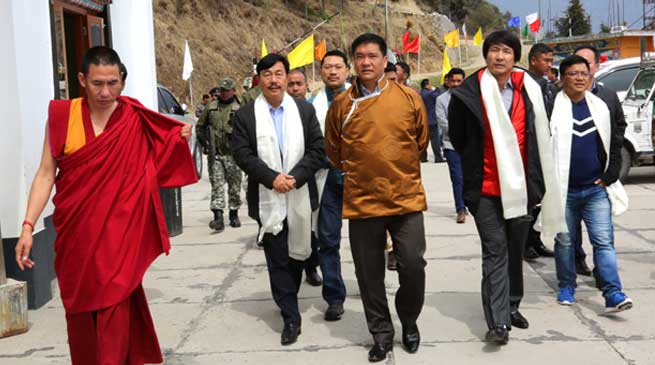 Tawang- Pema Khandu Visits Manjushree Foundation