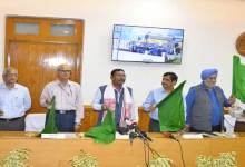 Photo of First BG Pssenger train in Baraigram-Dullabcherra section flagged off