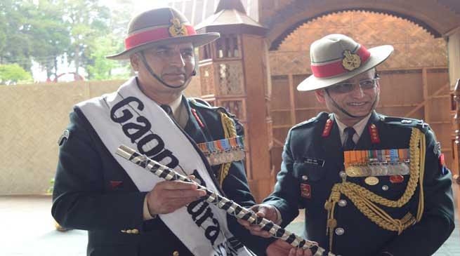 Saha handed over the Assam Regiment Reins to Negi