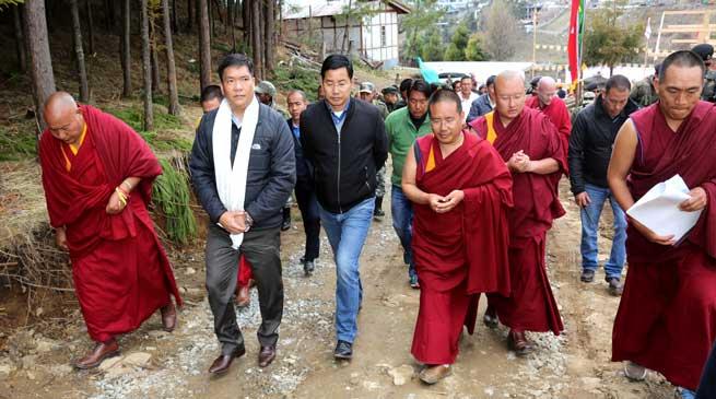 Tawang- Khandu visits Thubten Shedrubling Foundation Site