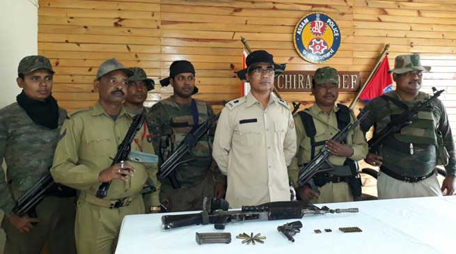 Assam- Two NDFB (S) cadre killed in an encounter in Chirang