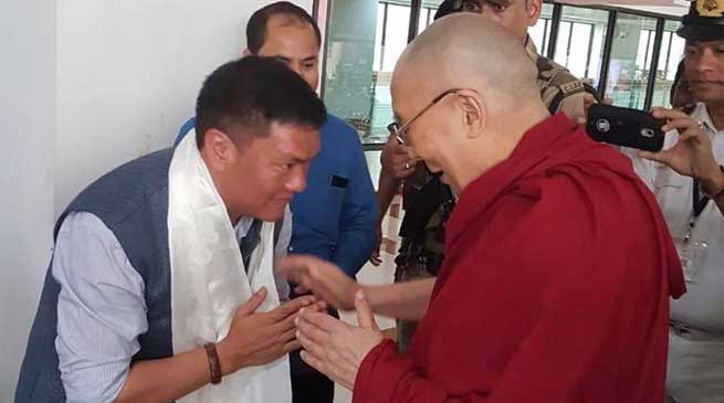 Dalai Lama reaches Guwahati, China again Warns India